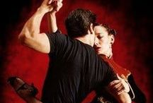 Dances - Tango / The Tango consists of a variety of styles that developed in different regions of Argentina as well as in other locations around the world. The dance developed in response to many cultural elements. The styles are mostly danced in either open embrace, where lead and follow have space between their bodies, or close embrace, where the lead and follow connect either chest-to-chest (Argentine tango) or in the upper thigh, hip area (American and International tango). / by Meli
