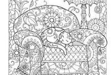 Desenhos para colorir / Estou reunindo aqui, desenhos para colorir e também alguns breves tutoriais de como desenhar.