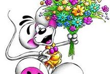 ♥ DIDDL MAUS STOFFE ♥ / Blumenpflücken mit Diddl, Diddlina, Galupy, Pimboli und Mimihopps. Da werden Erinnerungen wach. Wir starten in das neue Diddl-Maus-Fieber auf hochwertigem Baumwolljersey erleben wir das große Diddl-Revival. Die Diddl-Mäuse sind echter Kult und überall bekannt. Diddl-Stoffe dürfen im kleingewerblichen Bereich vernäht werden. www.stoffe-hemmers.de