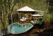 backyard paradise / tiki torches etc... / by Roadster Mark
