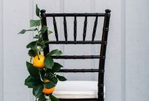 Inspiration {Wedding chair decor} / by Little Gray Station - Wedding and Event Design