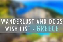 GREECE Wanderlust Wish List / www.wanderlustanddogs.com