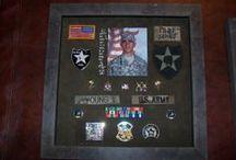 Military Memorabilia / Framed military memorabilia