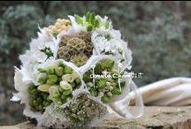 Scorci di muretti di pietra con:... / ...fresie, ornitogalli, bacche e fiori di bosco.