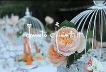 Candele, lisianthus, pastelli e ventagli... / ...per un flower design al vento delle rose inglesi.