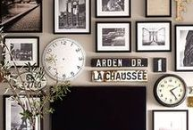 Gallery Wall / Ideas for creating an amazing gallery wall. Art, pictures, DIY projects, layouts, tips and inspiration