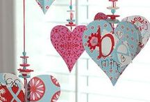 Valentine's Day / Inspiration for celebrating Valentine's Day - decor, crafts, gifts and DIY