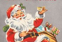 Vintage Santa / Beautiful vintage holiday images from greeting cards, ads, magazines and wrapping paper.