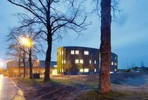 SOMA College / Transforming a millitary centre into a highly effective training area. Successful combination of old and new building. National Training Centre for the Construction and Infrastructure industry, 700 students In Harderwijk, the Netherlands.