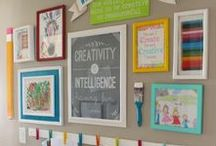 Kid's Craft Space / Ideas for creating an amazing kid's craft room or area