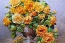 Selyem virágok - varrással / Kézimunka