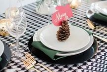 Holiday Linen Inspiration / Holiday wedding and event linen inspiration by House of Hough.