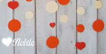 Nobile paper garlands for nursery room / party decoration