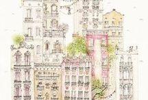 ~ house illustrations ~
