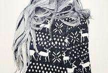 zwart wit illustraties