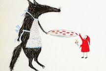 roodkapje, vos, bos