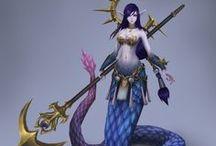 Humanoidy - Naga / Pół węże pół ludzie