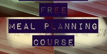 My FREE Meal Planning Course / This a course that I offer for FREE on my blog-- A Precariously Balanced Life. Follow me and learn how to Meal Plan--completely.