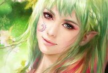Kobiety - zielonowlose