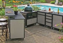 Grill carts and tables / From egg nest to egg wow! Carts and tables for the Big Green Egg and other BBQs.