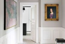 Inspiration: Wainscoting / Wainscoting: Classic look for the apartment. Authentic or faked.