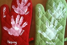 HAND PRINT CRAFTS / by Mollie Harris
