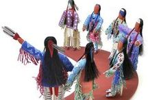 Native American Dolls / Handmade using traditional techniques and materials, including leather, trade cloth, earth paints, beads and porcupine quills, these dolls carry the Native American tradition, love, and culture - stories often accompanied the doll on its journey from one generation to the next.