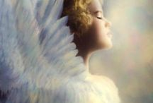"Heavenly Beings / ""For God commands the angels to guard you in all your ways."" Psalm 91:11. I do believe in angels. I saw one when I was seven, and you'll never convince me I didn't."