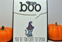 Halloween Cards and tags / Halloween, fall and Thanksgiving cards all in one place for easy access