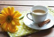 Café com flor