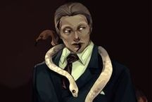 """Hannibal / Hannibal Lecter, one of my favorite character ever, and all the """"world"""" around this character. NBC Hannibal + films. I try to find rare fanart and photos. Oh, and of course all our fanarts (FuriarossaAndMimma on Deviantart). So, this is my collection of favorite fanarts and I'm trying to make it the biggest fannibal collection on the net. [NEWS!: Do you like using Tumblr? I'm creating an even bigger fanart collection here: http://fannibalgallery.tumblr.com/ Enjoy!]"""