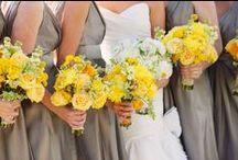 ~paleta inspiracyjna~ Przyjęcie w odcieniach żółtego i szarości / Dekoracje ślubne w nowoczesnej kolorystyce - połączenie odcieni szarego i żółtego.