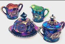 Carnival Glass / Karnivalglas 1900 - 2000 Weltweit USA UK AUS Germany........ Fenton, Millsburg, Brauckmann, Pfauenauge LGW......