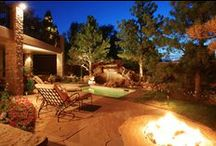 Peaceful Retreat / Our clients wanted an updated space that fit their tastes and personalities. To capture their needs, we created for them  a beautiful waterfall, a custom fire hearth, and a soaking pool. Now this space is a tranquil, peaceful getaway in their backyard!