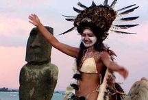 Colours from Rapa Nui - Isla Pascua - Easter Island / Sau Sau - Dances and Costumes, Cultur and Tradition from the polynesian island Rapa Nui