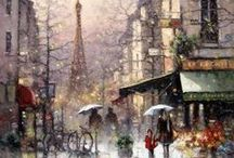 structute,cities,streets,painting,digital art,drawings... / by David Banner