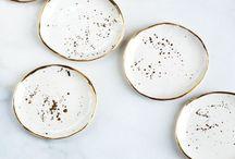 Ceramics / Pretty plates, pieces, pottery