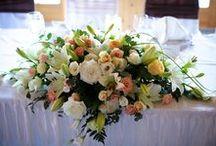 Főasztaldíszek esküvőre / Főasztaldíszek és dekorációk esküvőre minden stílusban.