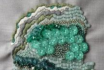 Stitch: abstract / Abstract, geometric, texture, patterned, colourful embroidery, cross stitch and needlecraft