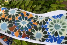 """textile handmade design / Collection """"Tiles of the Alhambra"""" Granada.Interpretation of the tiles decorating the rooms of this beautiful palace. by Lola Estrella"""