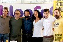 Blogfest 2013 / Rimini Street Food a #Blogfest13 con il Sindaco di Rimini Andrea Gnassi, lo chef Massimo Bottura, Massimo Davoli e Patrizia Cianetti di Ducati.