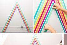 ▸ DIY   Washi Tape on Walls / וואשי טייפ דביק וצבעוני מקשט את קירות הבית. בזול, בקלות ועם אפשרות להתחרט. www.hakoltov.com