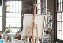 Studio Spaces / Art studio spaces, ideas, and inspiration.
