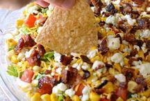 Trempettes, salsa & nachos