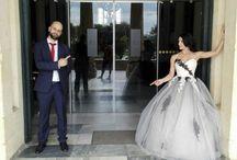 Wedding dress black and white / Black and white