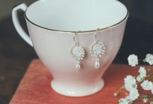 A Vintage Affair - Blanc / A Vintage Affair - Blanc  is #handmade with #vintage and antique mother of pearl #buttons and #lace handstitched with silver and is transformed into pretty, nostalgic jewellery.