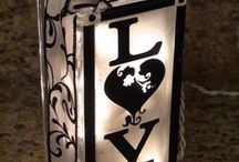 Lighting Etchspiration / Light up your etching with these great ideas! Use etchall® dip 'n etch to give your glass lights an ethereal diffused glow.