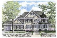 Colonial House Plans / This collection of Colonial home designs includes a variety of such classic Colonial style houses as the Garrison, Saltbox House Plans, Georgian, Dutch and Spanish. Simple, classic detailing characterizes these home plans. Symmetrical exterior styling, multi-pane windows and central front doors are often paired with home design features such as dental molding, fanlights, palladium windows, shutters, large columns and pilasters. / by COOLhouseplans.com
