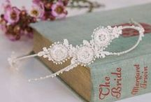 Bridal Accessories - Judith Brown Jewellery / Elegant bridal  accessories and jewellery, incluidng headdresses, hair combs  and headbands, made with vintage lace and embroidered with silver and beads. Many limited edition pieces. Bespoke designs can be designed and handmade too.