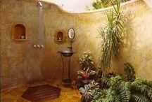 fürdő (szoba) a kertben - shower garden